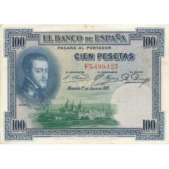 Ispanija. 1925 m. 100 pesetų