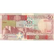 Somalis. 1987 m. 50 šilingų