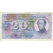 Šveicarija. 1963 m. 20 frankų