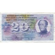 Šveicarija. 1969 m. 20 frankų