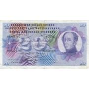 Šveicarija. 1970 m. 20 frankų