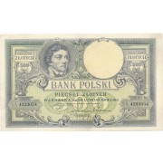 Lenkija. 1919 m. 500 zlotų