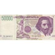 Italija. 1992 m. 50.000 lyrų