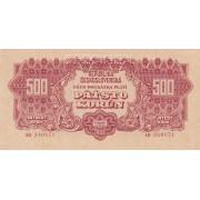 Čekoslovakija. 1944 m. 500 korunų. SPECIMEN