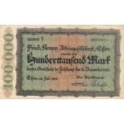 Vokietija / Esenas. 1923 m. 100.000 markių
