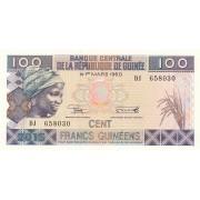Gvinėja. 2015 m. 100 frankų. UNC