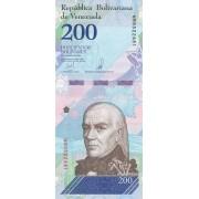 Venesuela. 2018 m. 200 bolivarų. UNC