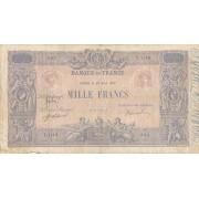 Prancūzija. 1917 m. 1.000 frankų. RETAS