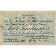 Vokietija / Diuseldorfas. 1922 m. 500 markių