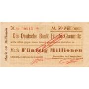 Vokietija / Chemnicas. 1923 m. 50.000.000 markių