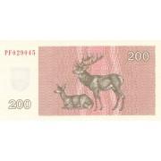 Lietuva. 1992 m. 200 talonų. UNC. Serija: PF