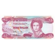 Bahamai. 1984 m. 3 doleriai. P44. aUNC