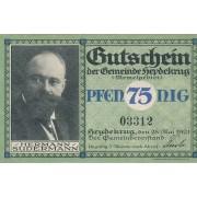 Šilutė. 1921 m. 75 pfennigai