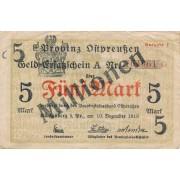 Karaliaučius. 1923 m. 5.000.000 ant 5 markių. Ausgabe I