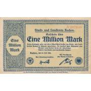 Vokietija / Achenas. 1923 m. 1.000.000 markių