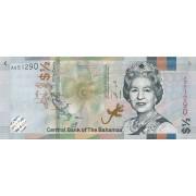 Bahamai. 2019 m. 1/2 dolerio. UNC