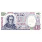 Čilė. 1967-1976 m. 1.000 eskudų. P146. UNC