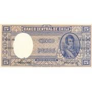 Čilė. 1958-1959 m. 5 pesai. UNC