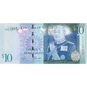 Tonga. 2009 m. 10 pa'angų. UNC