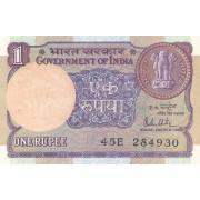Indija. 1985 m. 1 rupija. P78a. aUNC