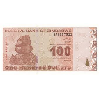 Zimbabvė. 2009 m. 100 dolerių. P97. UNC