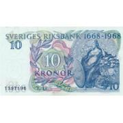 Švedija. 1968 m. 10 kronų