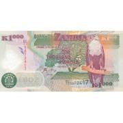 Zambija. 2004 m. 1.000 kvačų. P44c. UNC