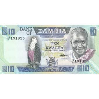 Zambija. 1980-1988 m. 10 kvačų. P26e. UNC