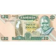 Zambija. 1980-1988 m. 20 kvačų. P27e. UNC