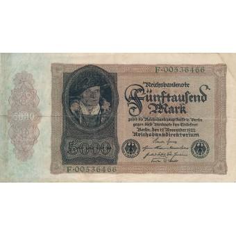 Vokietija. 1922 m. 5.000 markių