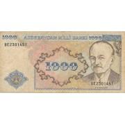 Azerbaidžanas. 1993 m. 1.000 manatų