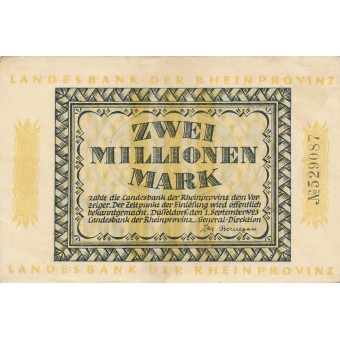 Vokietija / Diuseldorfas. 1923 m. 2.000.000 markių