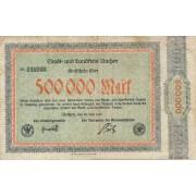 Vokietija / Achenas. 1923 m. 500.000 markių