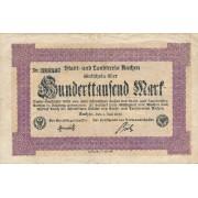 Vokietija / Achenas. 1923 m. 100.000 markių