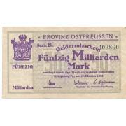 Karaliaučius. 1923 m. 50.000.000.000 markių. Serija: B.
