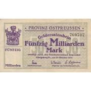 Karaliaučius. 1923 m. 50.000.000.000 markių