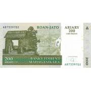Madagaskaras. 2004 m. 200 ariary. UNC