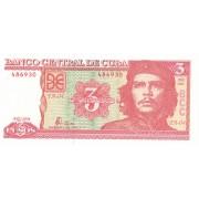 Kuba. 2004 m. 3 pesai. P127a. UNC