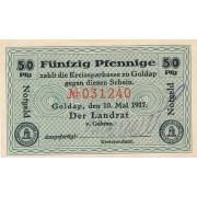 Geldapė. 1917 m. 50 pfennigų