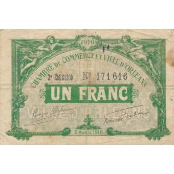 Prancūzija / Orleanas. 1916 m. 1 frankas