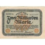 Vokietija / Kelnas. 1923 m. 2.000.000.000 markių
