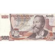 Austrija. 1985 m. 500 šilingų