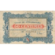 Prancūzija / Strasbūras. 1918 m. 50 sentimų