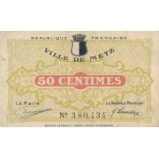 Prancūzija / Mecas. 1918 m. 50 sentimų