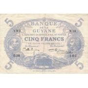 Prancūzijos Gviana. 1922-1947 m. 5 frankai. P1d