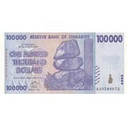 Zimbabvė. 2008 m. 100.000 dolerių. P75. UNC