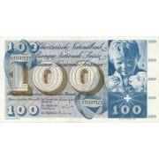 Šveicarija. 1965 m. 100 frankų