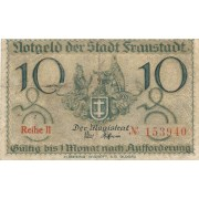 Vshova. 1918 m. 10 pfennigų