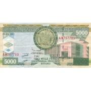 Burundis. 2011 m. 5.000 frankų