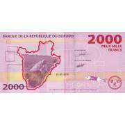 Burundis. 2015 m. 2.000 frankų. P52. UNC